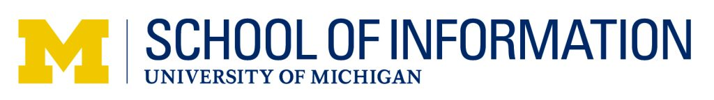 Logo for the University of Michigan School of Information